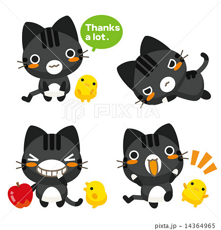 ネコとーく。黒トラ 14364965