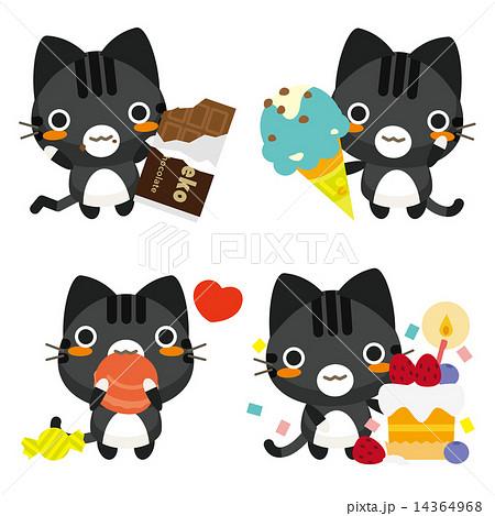 ネコとーく。黒トラ お菓子 14364968