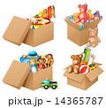 人形 段ボール箱 おもちゃのイラスト 14365787