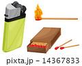ライター マッチ 炎のイラスト 14367833