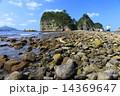 干潮 トンボロ 三四郎島の写真 14369647