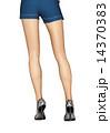 美脚 女性 脚のイラスト 14370383