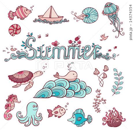 Sea doodle ements 14374354