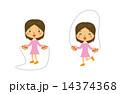 縄跳び 子供 縄飛び スポーツ 14374368