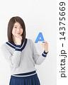 アルファベット A 女性の写真 14375669