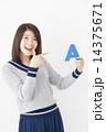 指差し アルファベット 人物の写真 14375671