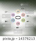 幾何学的 インフォグラフィック 6角形のイラスト 14376213