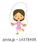 縄飛びをする女の子 14378408