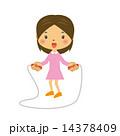 縄飛びをする女の子 14378409