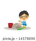 砂場で遊ぶ子供 14378690