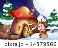 Santa outside the mushroom house 14379566
