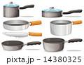 フライパン パンする キッチンウェアのイラスト 14380325