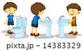 水洗 水 RESTROOMのイラスト 14383329