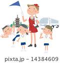修学旅行の小学生 14384609