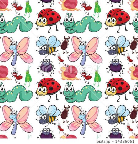 Seamless insectのイラスト素材 [14386061] - PIXTA