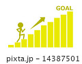 グラフ 棒グラフ goalのイラスト 14387501