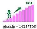 グラフ 棒グラフ goalのイラスト 14387505