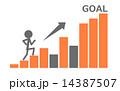 goal 棒グラフ グラフのイラスト 14387507