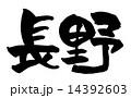 筆文字 漢字 文字のイラスト 14392603