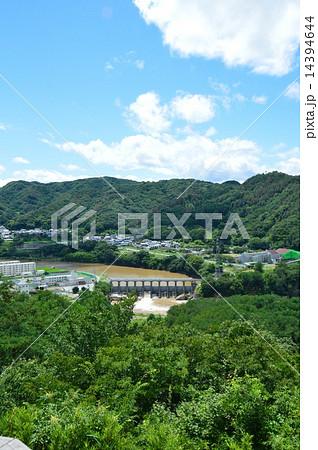 小諸城から眺めた「西浦ダム」(長野県小諸市) 14394644