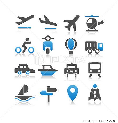 Transportation icons set 14395026
