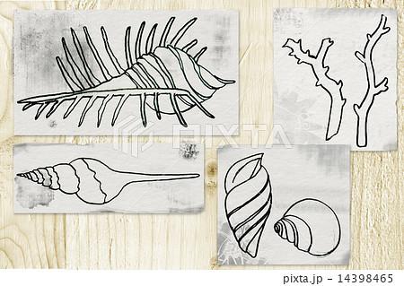 海のモチーフのイラストのイラスト素材 14398465 Pixta
