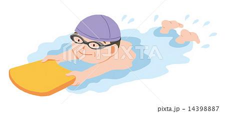 水泳をする高齢者のイラスト素材...