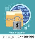 保護 データ 概念のイラスト 14400499
