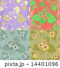 set seamless pattern lotus  14401096