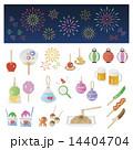Set of Japanese summer elements 14404704