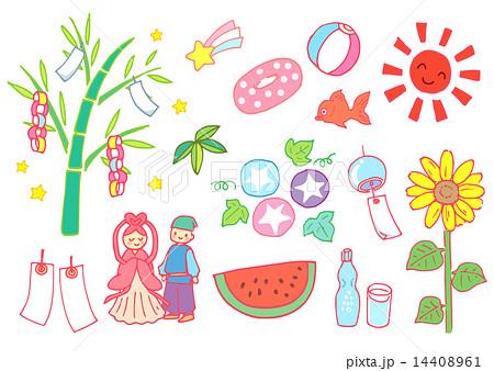 歳時記7月のイラスト素材 14408961 Pixta