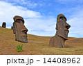 モアイ像 巨石像 世界遺産の写真 14408962