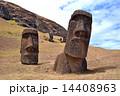 モアイ像 巨石像 世界遺産の写真 14408963