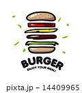 ハンバーガー ファストフード ファーストフードのイラスト 14409965