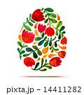 イースター イラスト フラワーのイラスト 14411282