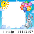 Frame with rabbit and balloons 1 14413157