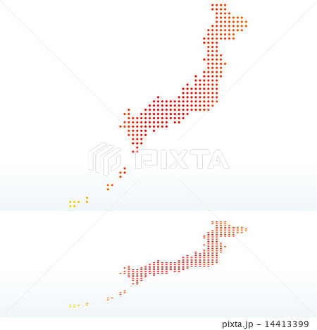 map of state of japan with dot patternのイラスト素材 14413399 pixta
