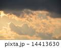 空 夕日 雲の写真 14413630