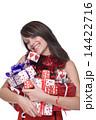 xマス クリスマス 女性の写真 14422716