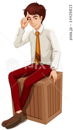 A businessman sittingのイラスト素材 [14426815] - PIXTA