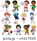 Kids engaging in different sports activities 14427095