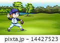選手 ベースボール 白球のイラスト 14427523