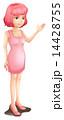 ノースリーブ 袖なし 女子のイラスト 14428755