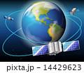 衛星 サテライト 軌道のイラスト 14429623