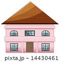 家 ピンク ピンク色のイラスト 14430461
