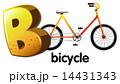 自転車 ビー レターのイラスト 14431343