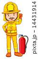 消火器 消防士 男のイラスト 14431914