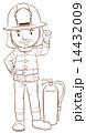 消防士 プレーン 平のイラスト 14432009