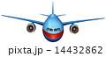 飛行機 フロント 前面のイラスト 14432862