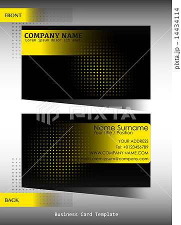 A black and yellow business cardのイラスト素材 [14434114] - PIXTA